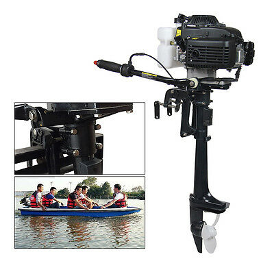 4HP 4 Stroke Petrol Power Outboard Engine Motor for Fishing Boat air-cool System