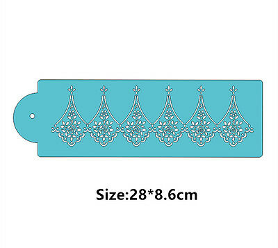Flower SZ Side Cookie Cake Stencil Decorating Mould Fondant Pastry Biscuits Tool