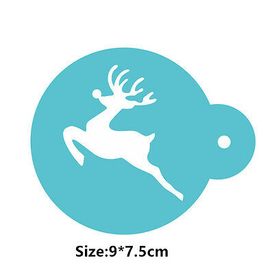 Christmas Deer Cookie Cake Stencil Decorating Mould Fondant Pastry Biscuits Tool