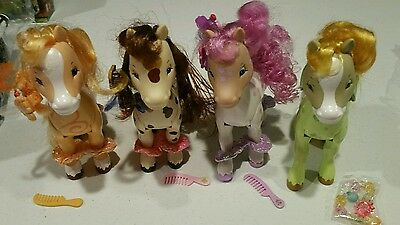 Strawberry Shortcake Bandai Lot Of 4 Fillies Ponies Horses New Without Box