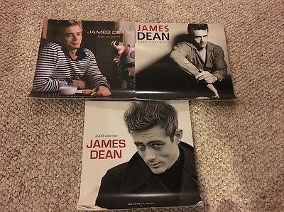 RARE James Dean 2006-2008 12 Month Wall Calendar Vintage Photos