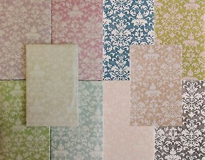 Fleur De Lis Floral Damask Vinyl Flannel Back Tablecloth - Various Colors/Sizes
