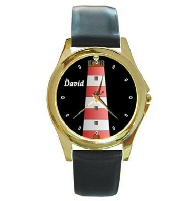 Lighthouse Theme Personalised With Any Name Wristwatch **great Gift Item***