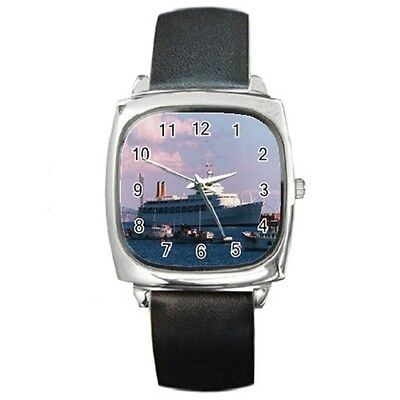 Ss Canberra Cruise Ship Square Wristwatch **lovely Item**