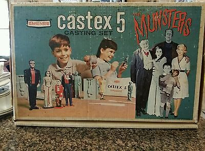 Vintage The Munsters Castex 5 Casting Set by Emenee 1964