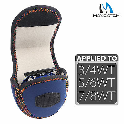 Fly Fishing Reel Pouch Fly Reel Bag Suit for 3/4 5/6 7/8WT Sheepskin Sewing Bag