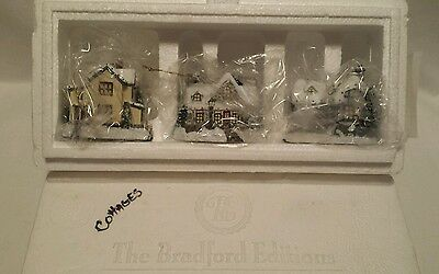 Christmas Ornament Cottages By Thomas Kinkade Bradford Editions