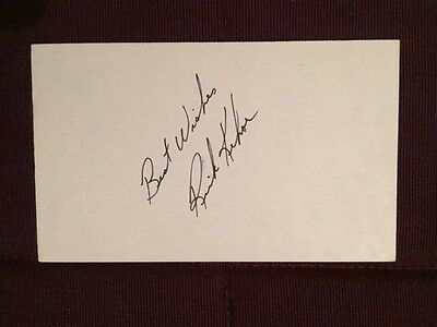 Rick Kehoe Leafs Penguiins Autographed Signed Index Card