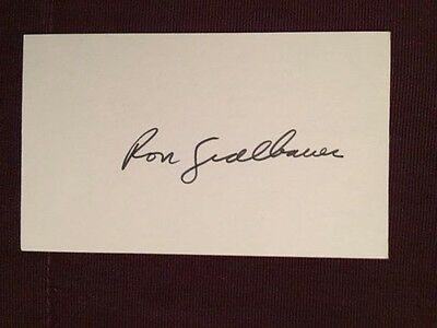 Ron Sedlbauer Leafs Blackhawks NHL Autographed Signed Index Card
