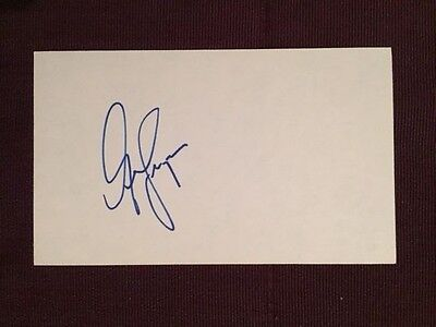 George Ferguson Leafs Penguins NHL Autographed Signed Index Card