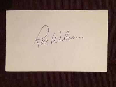 Ron WIlson Leafs NHL Autographed Signed Index Card