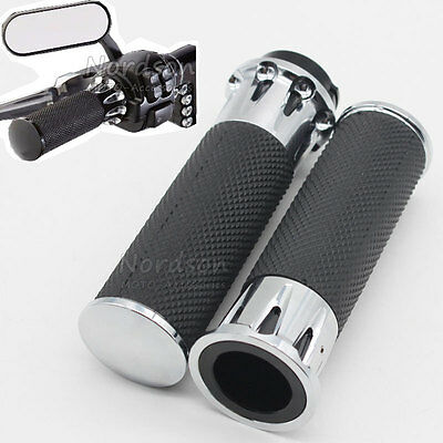"""For Harley Handlebar Grips Handle Bar Grip 1""""25mm Softail Sportster Touring Dyna"""