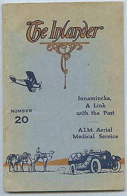 1929 Magazine The Inlander Alf Traeger & Pedal Wireless Flying Doctor Plane B24