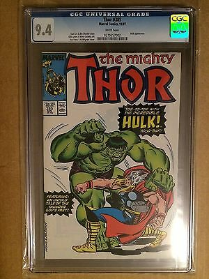 CGC 9.4 The Mighty Thor #385 *White Pages*Thor VS Hulk*1987*Thor Ragnarok FILM!
