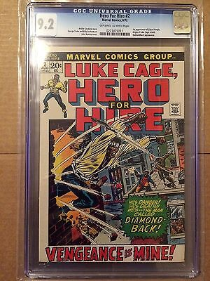 CGC 9.2 Hero for Hire, Luke Cage #2 *OW-White*1st App. Claire Temple*1972