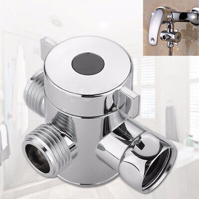 3 Way T-adapter Valve For Toilet Bidet Shower Head Diverter Valve 1/2 Inch