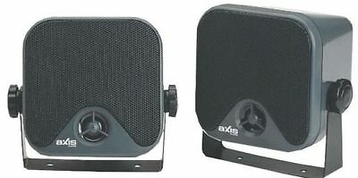Axis ax442 surface mount 50 watts max speakers twin pack suits outdoor indoor