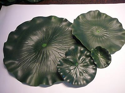 FLOATING ARTIFICIAL GREEN LILY PAD, POND WATER FEATURE, FROGS PAD, 6 sizes avail