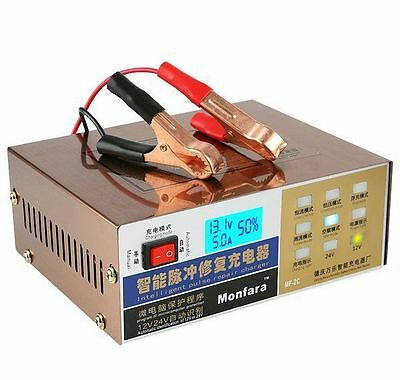 220V DESULFATOR 100AH Automatic Car Battery Electric Charger AGM GEL