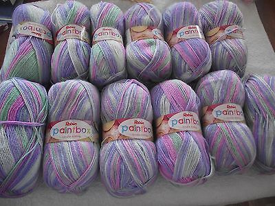 WOOL ~ ROBIN PAINTBOX DOUBLE KNITTING ~ LOT OF 12 ~ 100g BALLS