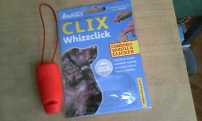 Clix Whizzclick combiné sifflet clicker dog puppy training 8,40 euros