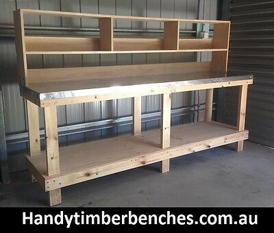 Timber Work Benches, Work Station Bench