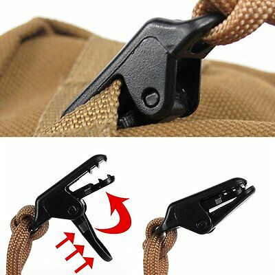 Camping Awning Canopy Clamp Kit Tarp Clips Snap Emergency Survival Tent Tighten