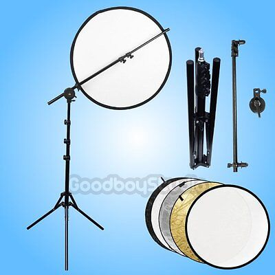 Studio Photo Reflector Holder + 5 in 1 110cm Reflector Disc + Light Stand Kit