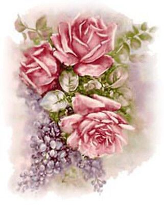 LiLaCs & RoSeS SHaBbY WaTerSLiDe DeCALs TRaNsFeRs *FuRNiTuRe SiZe*