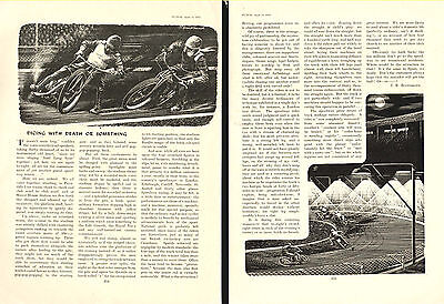 SPEEDWAY - Dicing With Death - Desribed by J.B.BOOTHROYD    (1951 2-Page Review)