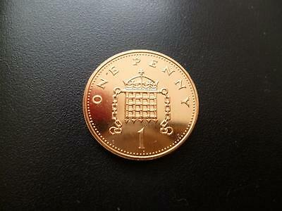 1991 Brilliant Uncirculated One Pence Piece. 1991 1P Coin Uncirculated Condition