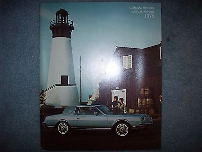 1978 General Motors Annual Report 1965 – 1978 Chart  9 X 11.   32 Pages