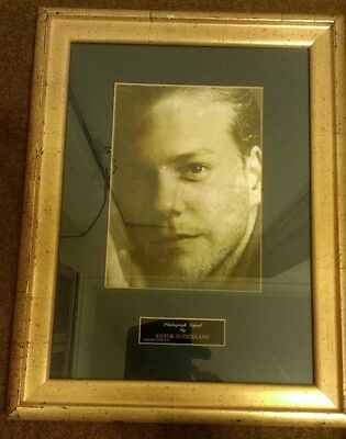 Keifer Sutherland Framed Signed Photograph From Famously Yours.