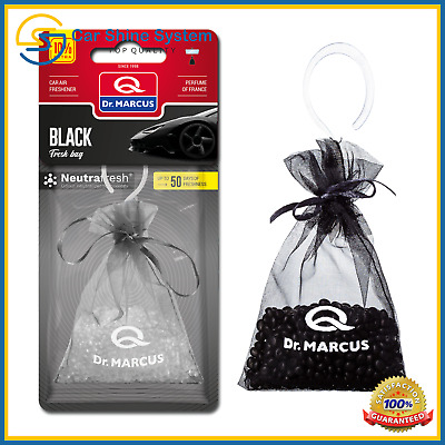 2x Dr.Marcus Hanging Fresh Bag Car Air Freshener Perfume Black