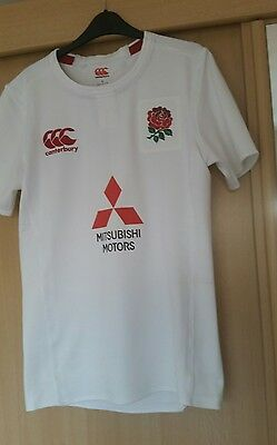 England test rugby shirt Canterbury under 20s rare player issue