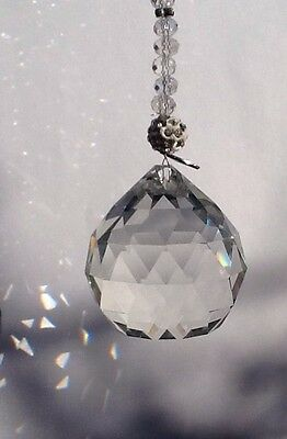 Crystal Sun Catcher Hanging Feng Shui Rainbow Prism Ball