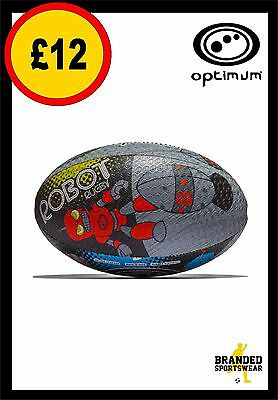 Optimum Robot/Robots Design Rugby Ball Training Quality Size 4 or 5 NEW!