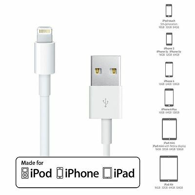 Genuine Lightning To USB 1M Charger Cable for original Apple iPhone7,6,5 iPad