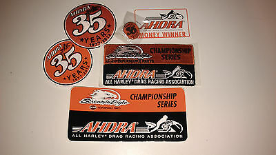 AHDRA All Harley Drag Racing Association Patches, Pin, Decals