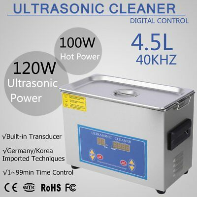 2017! Stainless Steel 4.5L Liter Industry Heated Ultrasonic Cleaner Heater Timer