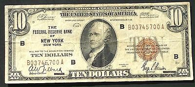 USA 10 Dollar Series 1929 National Currency Federal Reserve Bank SELTEN #4003