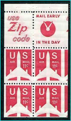 """USA #C78a  error Mint Never Hinged """" misperf Booklet pane """""""