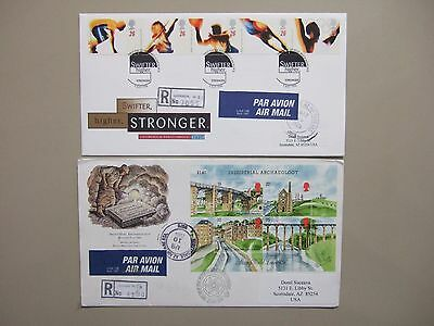Two GB registered fdc:Sport,Industrial Archaeology SS