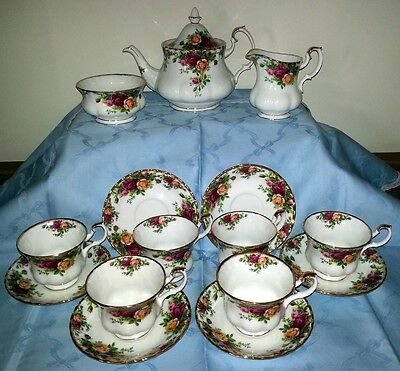 Royal Albert Old Country Roses Servizio the teiera tazze porcellana inglese