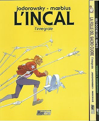 L'INCAL + Folle Sacro Cuore + Occhi Gatto Jodorowsky MOEBIUS PACK ed.Magic Press