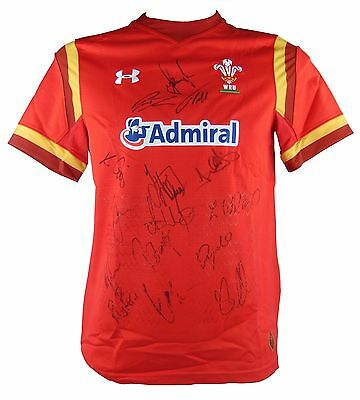 Wales Rugby Signed Six Nations Shirt 2017+Photo Proof*see Players Sign Shirt*