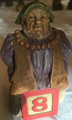 Tom Clark Gnomes Number Block Numeric #8 signed King Henry VIII