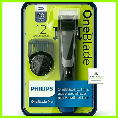 Philips Oneblade Pro Hybrid Trimmer & Shaver 12 Length Comb Qp6510 Fast Free P&p