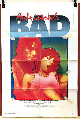 ANDY WARHOL'S BAD original movie poster 1977