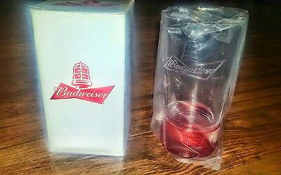 4 Budweiser red light glasses.